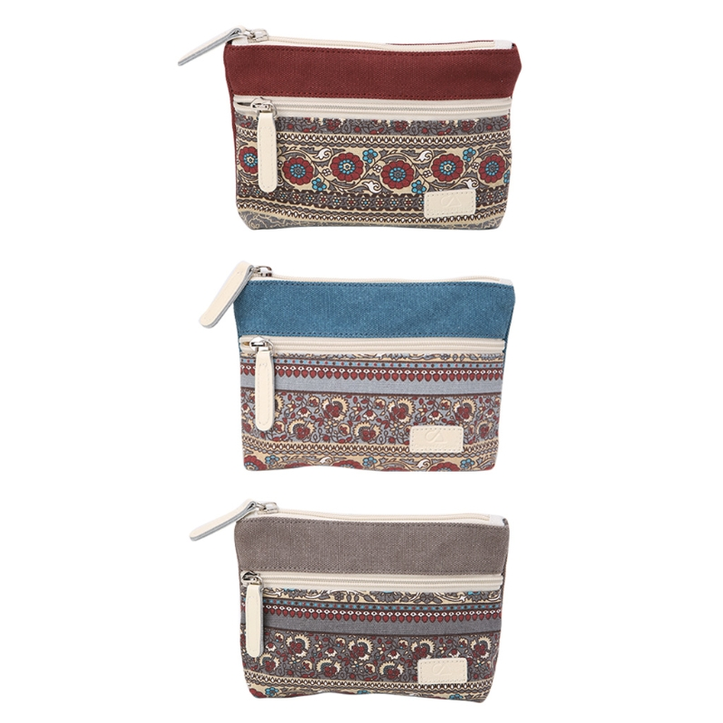 New Women Lady Girl Retro Canvas Coin Bag Purse Change Wallet Card Case Holder