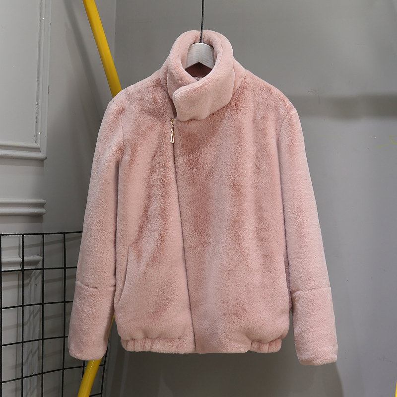 Faux Fur Warm Winter Coat Plus Size Women Fashion Fluffy Cardigan Thicekn Jacket Lady Coats Zipper Outwear