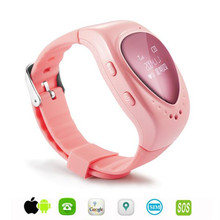 Kids GPS tracking A6 tracker watch phone for child children gps bracelet google map, sos button, free apps gsm gps locator