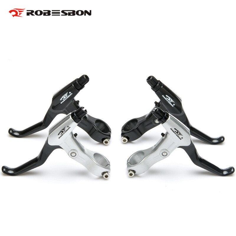 где купить ROBESBON Brake Lever Positive Negative Common Ultralight Aolly MTB Road Fixed Gear Bicycle Brake Handle Disc Brake V Brake Lever дешево