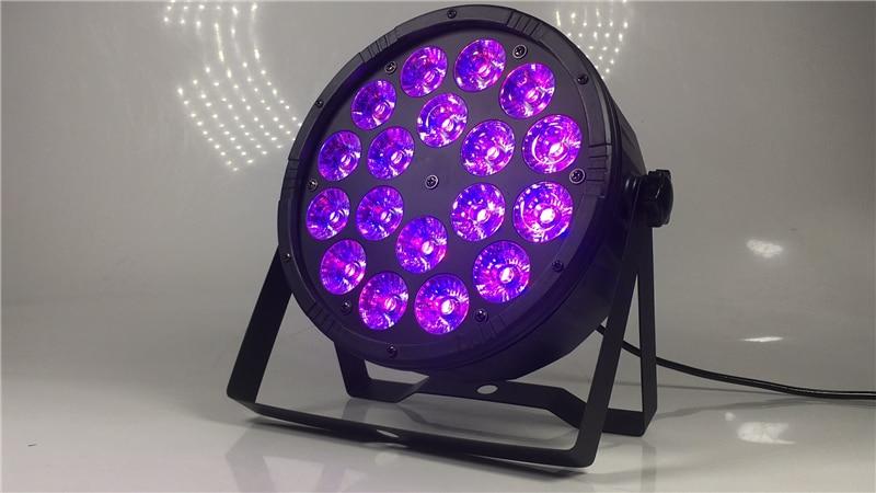 Image 5 - Большие линзы 18X12 Вт led par огни RGBW 4в1 плоский par dmx512 профессиональное DJ оборудование-in Эффект освещения сцены from Лампы и освещение