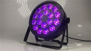 Image 3 - 1pieces 18x12w led par light + 1pieces DMX signal line dj dyeing light flat par rgbw 4in1 LED
