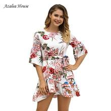 3a6a32665c5951 Azalea House 2018 Autumn New National Style Women Straight A-Line Mini  Dresses Round Collar Casual Ruffles Dress Vestides