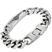 David Kabel 22 5cm Men S Chain Link Bracelet 316L Stainless Steel Bracelet Brand Male Fashion