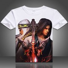 China Wind T-shirt ademend en comfortabele korte mouwen t-shirt 3D cartoon T-shirt Unisex Korte Mouw Tops Tee Shir(China)