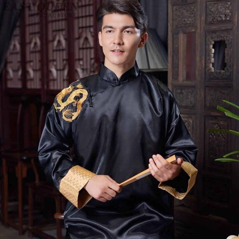 Традиционная китайская одежда для мужчин мужское пальто Верхняя одежда Восточный зимний Тренч Мужская одежда Тренч 2018 DD1143
