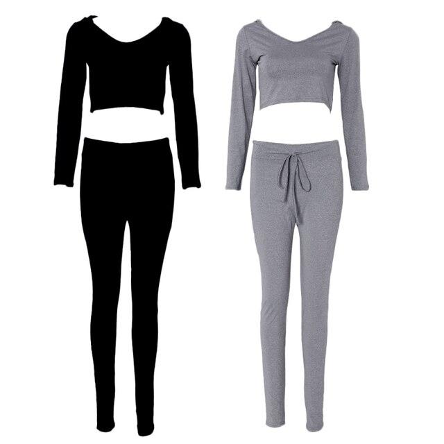 2 piece set women suit outfit two piece set crop top legging sweatpants set crop hoodie set female sweatshirt pants tracksuit 2