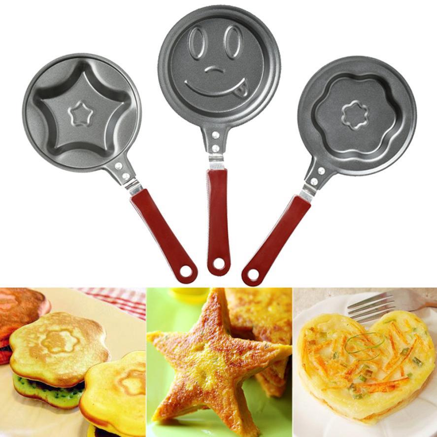 Mini dessin animé œuf moule cuisine extérieure non-Stick Braconnier Pot Moule de Cuisine Pancake