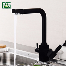 FLG Kitchen Faucets Brass Sink Water Faucet 360 Degree Rotation With Purification Features Mixer Tap Crane For