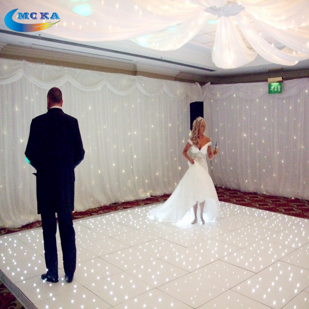 10X10 feet Wedding Disco Dance Floor Party Stage Show Twinkling Dance Floor Led Matrix 12 12 feet starlit dance floor wedding dance floor led video dance panels for decoration