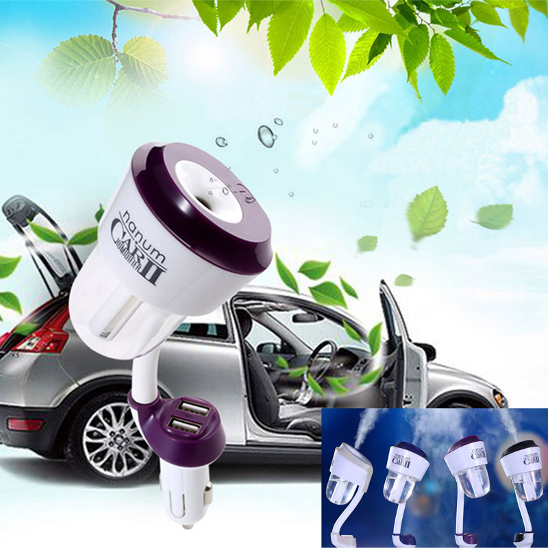Ruijie II Humidificadores de coche ii ambientador 12 V Cargador de coche Humidificador nebulizador de alta calidad Mute Home Esterilización de aire