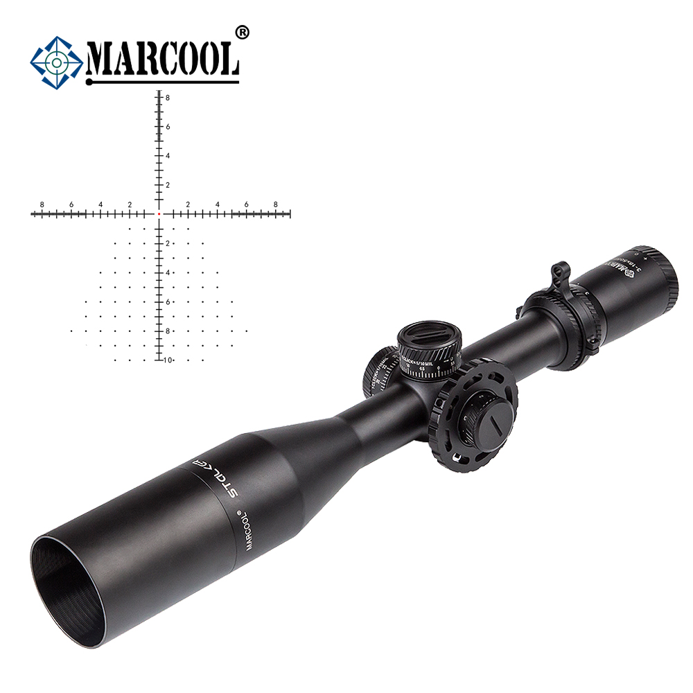 AK Marcool Harceleur de Tir 3-18x50 FFP HD Verre Objectif Rouge Dot Tactique Chasse Optique Collimateur Sight Rifle Scope