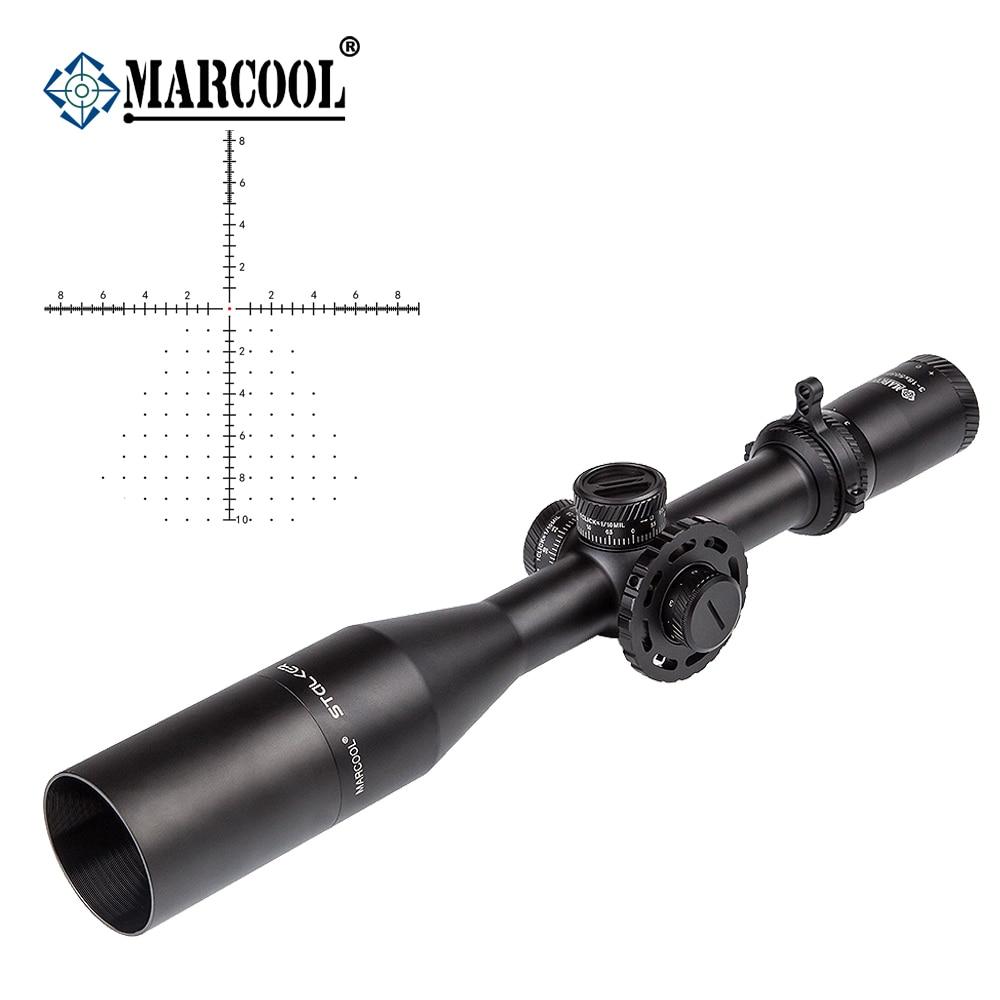 AK Marcool Stalker Cannocchiali da fucile 3-18x50 FFP di Vetro HD Obiettivo Red Dot Tactical Caccia Collimatore Ottico Portata del Fucile di Vista