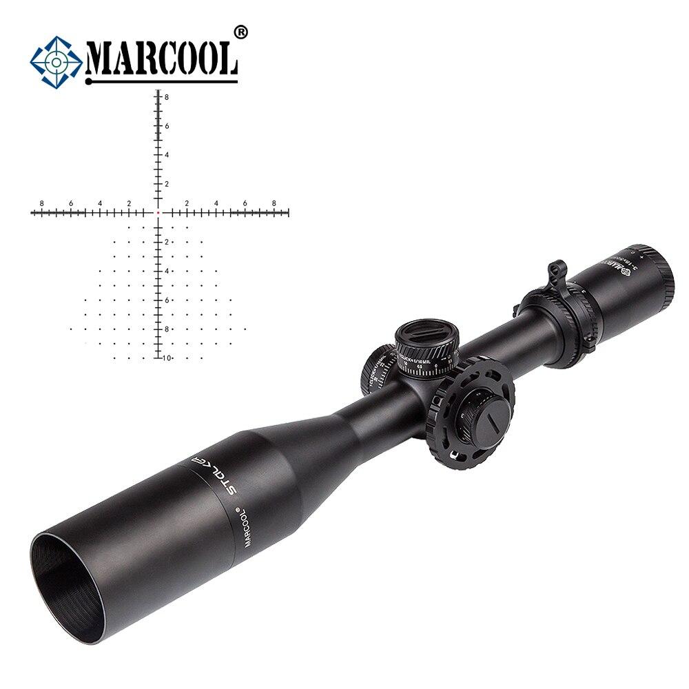 AK Marcool Stalker Ottica 3-18x50 FFP HD Ottico Aim Red Dot Tactical Telescopici Rifle Scope Collimatore Sight Per La Caccia