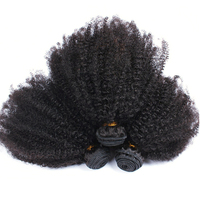 Mongolian Afro Kinky Curly Hair Weave Bundles 4B 4C 100% Human Hair Extensions 3pcs Natural Color Remy Hair Comingbuy