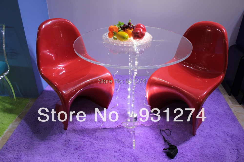С круглым акрил разворачивается журнальный столик антикварной обеденный стол для 2-4 человек изогнутые resturant Таблиц сообщение таблицы