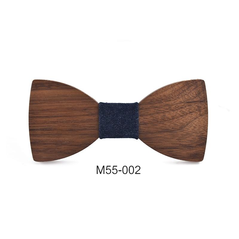 2016 New Design Pajaritas Handmade Annatto Hardwood Mens Wooden Bow Ties Gravatas Corbatas Business Party Ties For Men Wood Ties