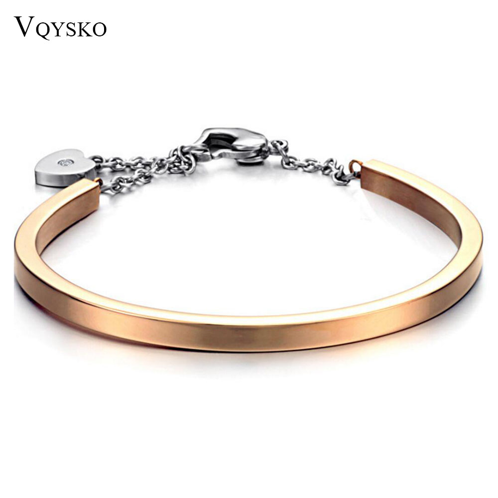 Factory Price Fashion Gold Color 316L Stainless Steel Bangels Bracelets for women