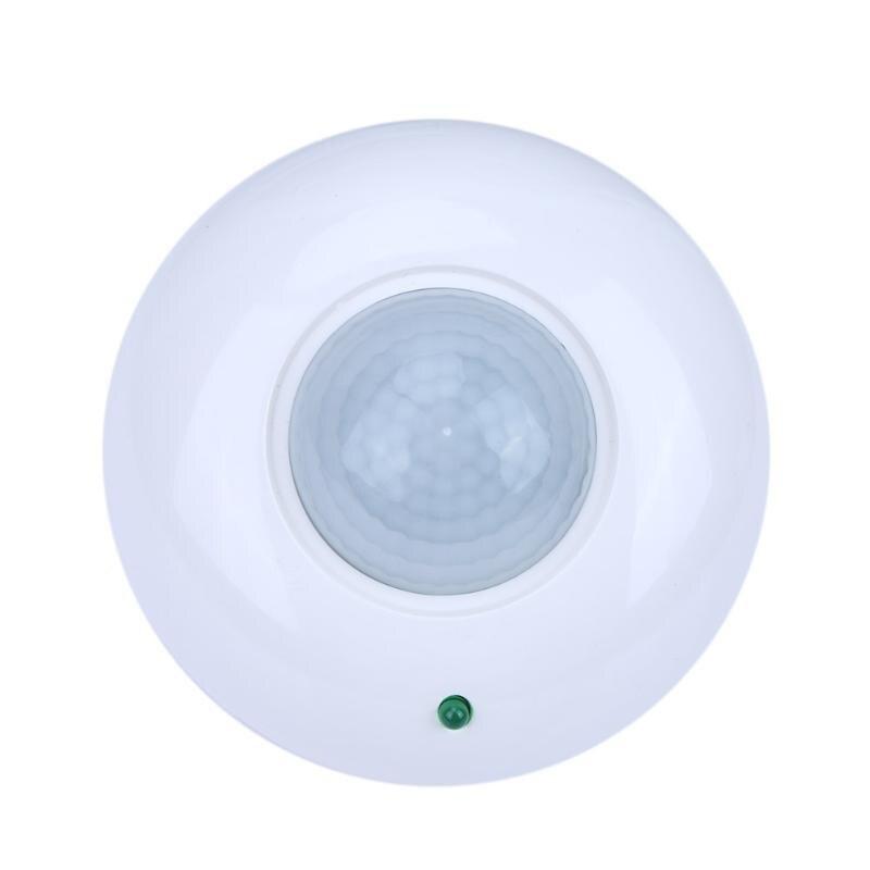 Solar Power Controller 30A Motion Sensor Lamp Switch Detector Inductor LED Bulb Night Light Wall Lights Auto On/Off 360  White ds 360 solar sensor led light black