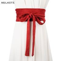 Autumn and winter women for   belt   weaving soft knot wide   belt   dress Ms. clothing   Cummerbund   high quality girl's   belt   LBQ090