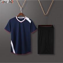 HOWE AO профессиональный olleyball костюм для мужчин волейбол Джерси Дышащие футбольные формы для бега custome волейбол спортивный комплект