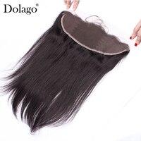 Яки прямо 13x4 кружева Фронтальная застежка бразильский Волосы remy натуральный черный 100% человеческих волос Бесплатная часть с для волос dolago