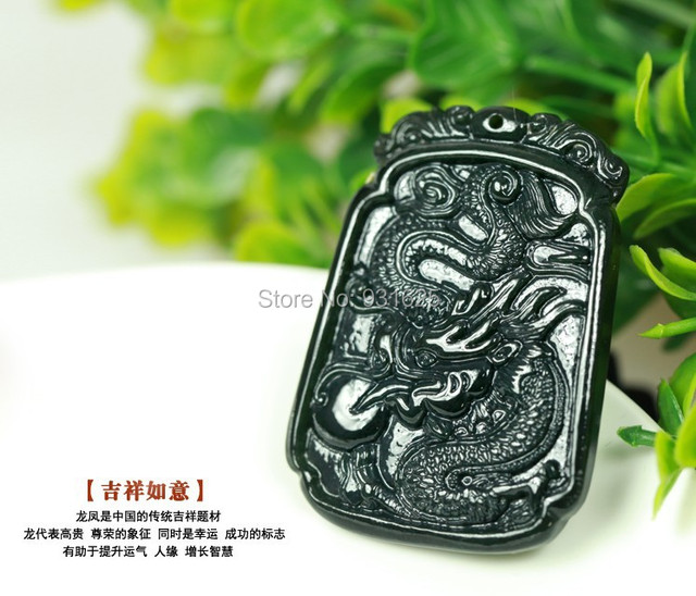 Wonderful Carving Pairs Real Green HeTian Jade Natural Jade Carved Dragon Pendants Lucky Amulet Pendant fashion Jewelry