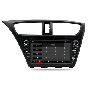 Image 2 - Android 9.0 Car Stereo DVD For Honda Civic Hatchback 2013+ WIFI 2 Din RDS GPS Navigation Bluetooth Audio Video Multimedia