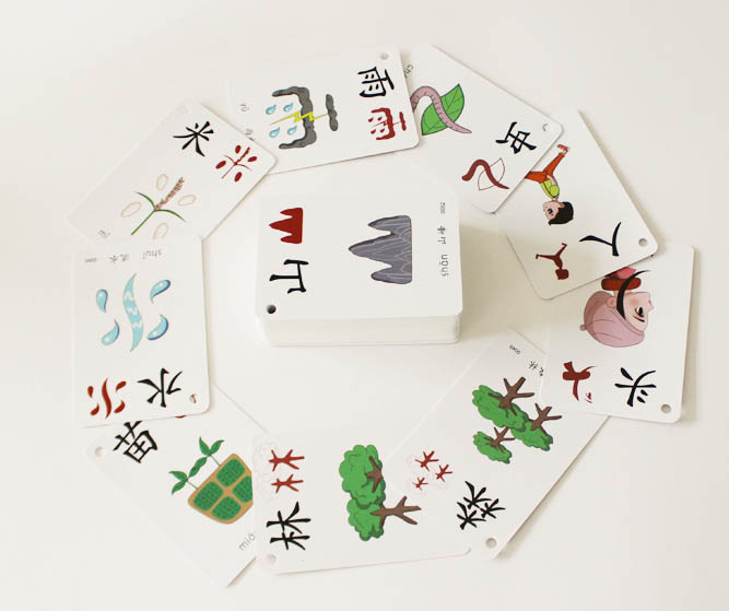 Pictographic literacy Chinese characters card picture pinyin hanzi learning card 1000 cards in all
