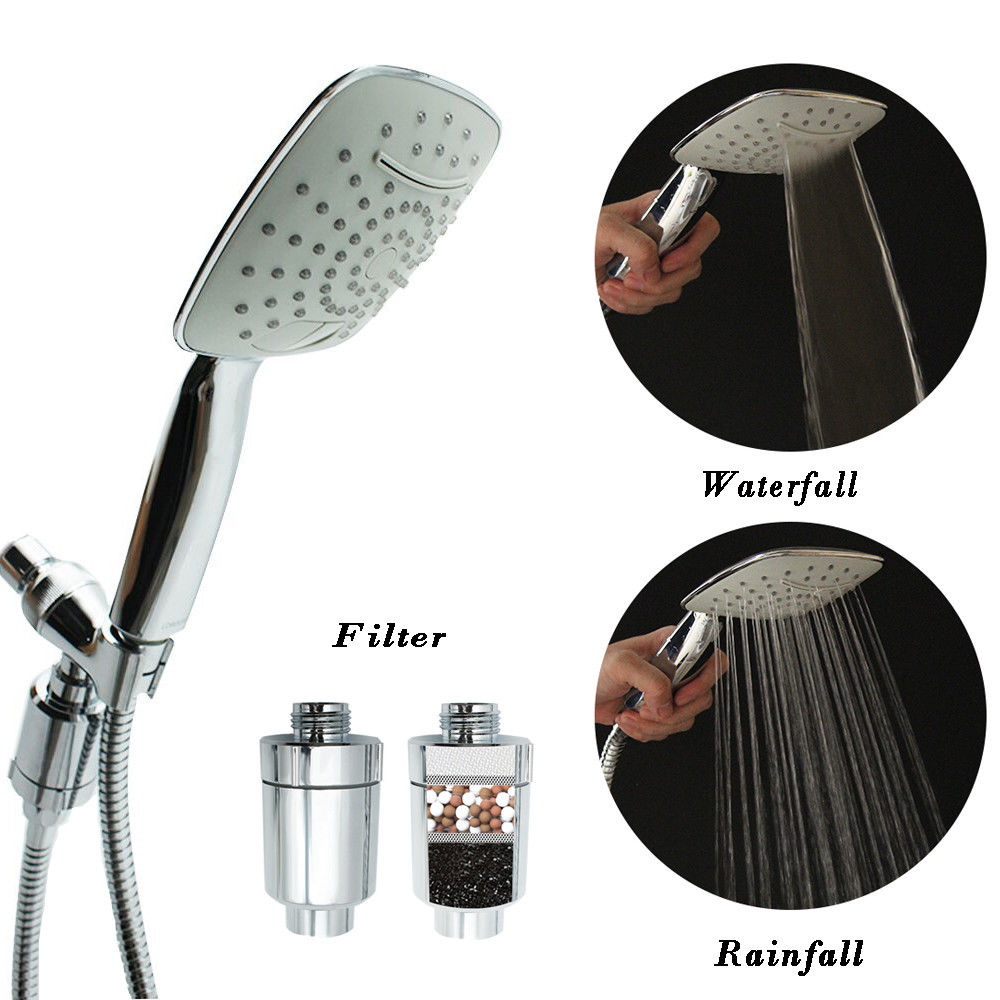 Filtration System Filtered Shower Head Culligan Handheld Massage Setting Chrome