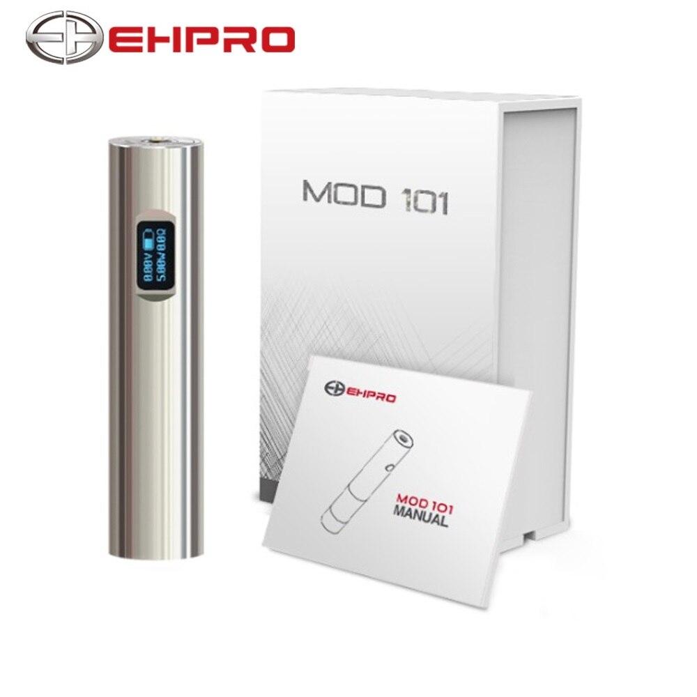 Original Ehpro 101 TC Mod Max 50 W sortie soutien VW/TC Mode No 18350/18650 batterie Vape stylo batterie Mod E Cig Vs Justfog Q16