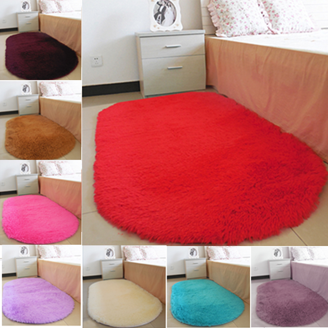 Oval bathroom rug - Salon Floor Rugs Non Slip Bath Mats Bathroom Carpets Oval Absorbent Soft Memory Carpets For