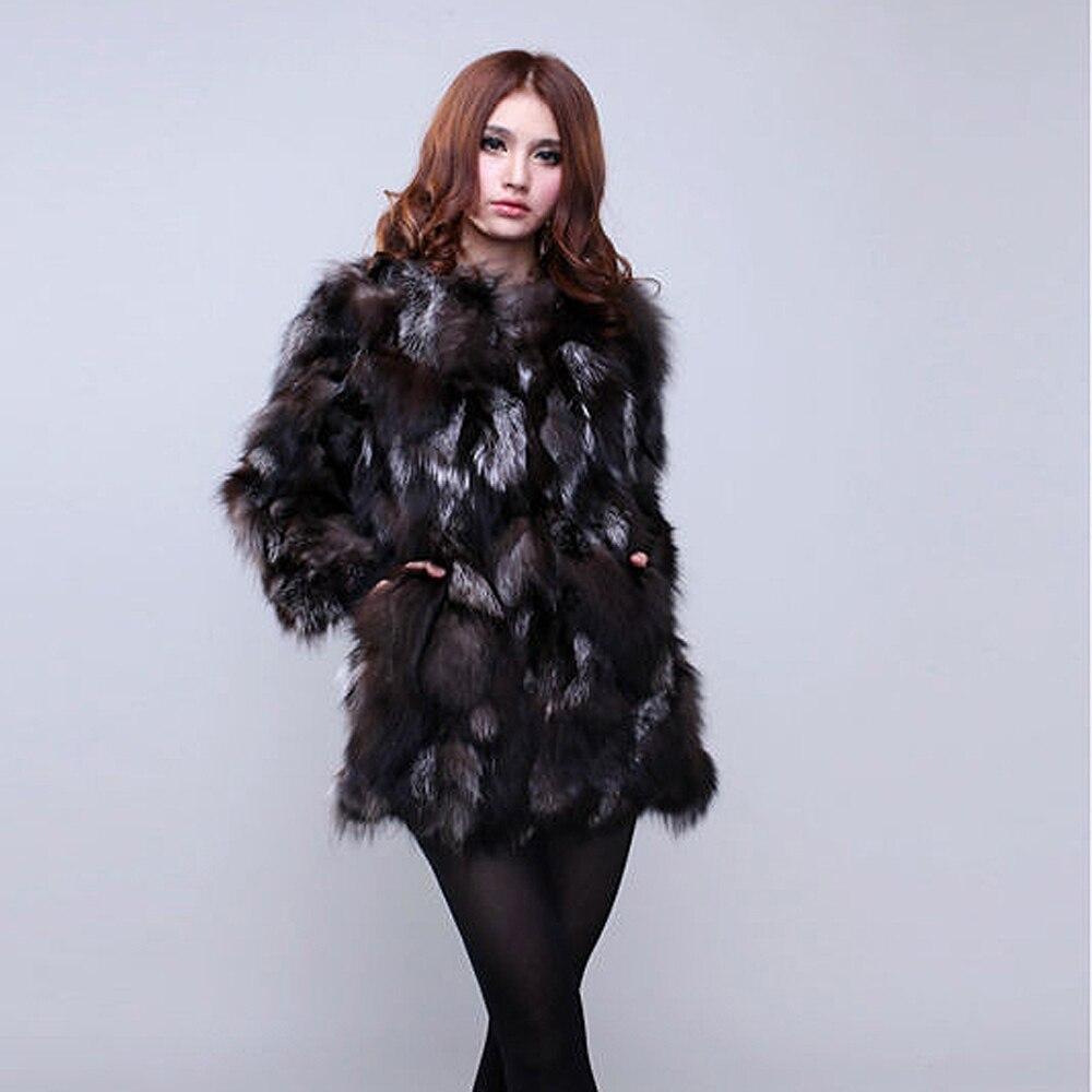 fuchspelz er herbst verkauf stil echte Hei lange 100nat band mantel jacke frauen winter weibliche myvnPN80wO