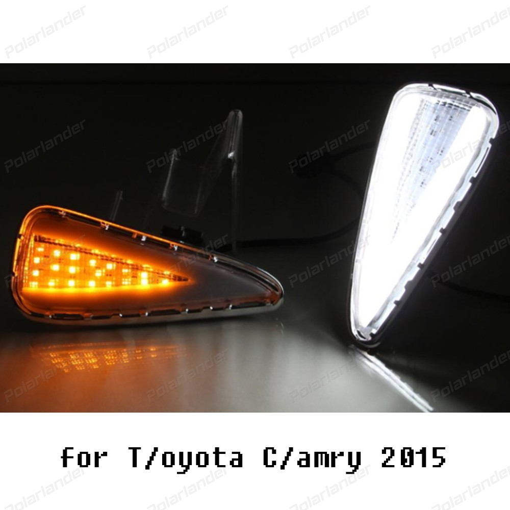 2017 new arrival drl for T/oyota C/amry 2015 Daytime Running Light Signal LED DRL Lamp Automobile Accessories