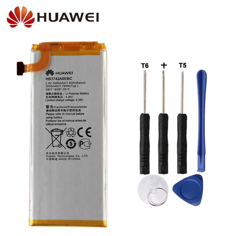 Original Replacement Battery Huawei HB3742A0EBC For Huawei P6 G6 G621 TL00 G620 C8817D H30 C00 Authentic Phone Battery 2050mAh