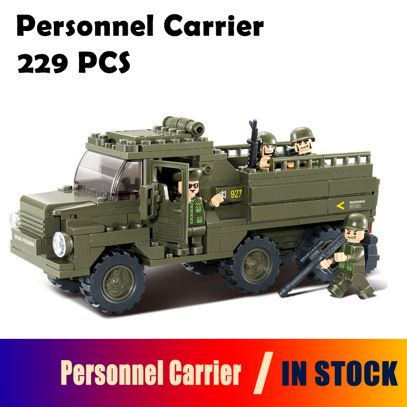 Model Building Block Sets Compatible with lego military Personnel Carrier Construction Brick Educational Hobbies Toys for Kids