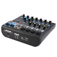 DJ Powered Mixer 8 Channel EU Plug Professional Power Mixing Amplifier USB Slot 16DSP +48V Phantom Power for Microphones