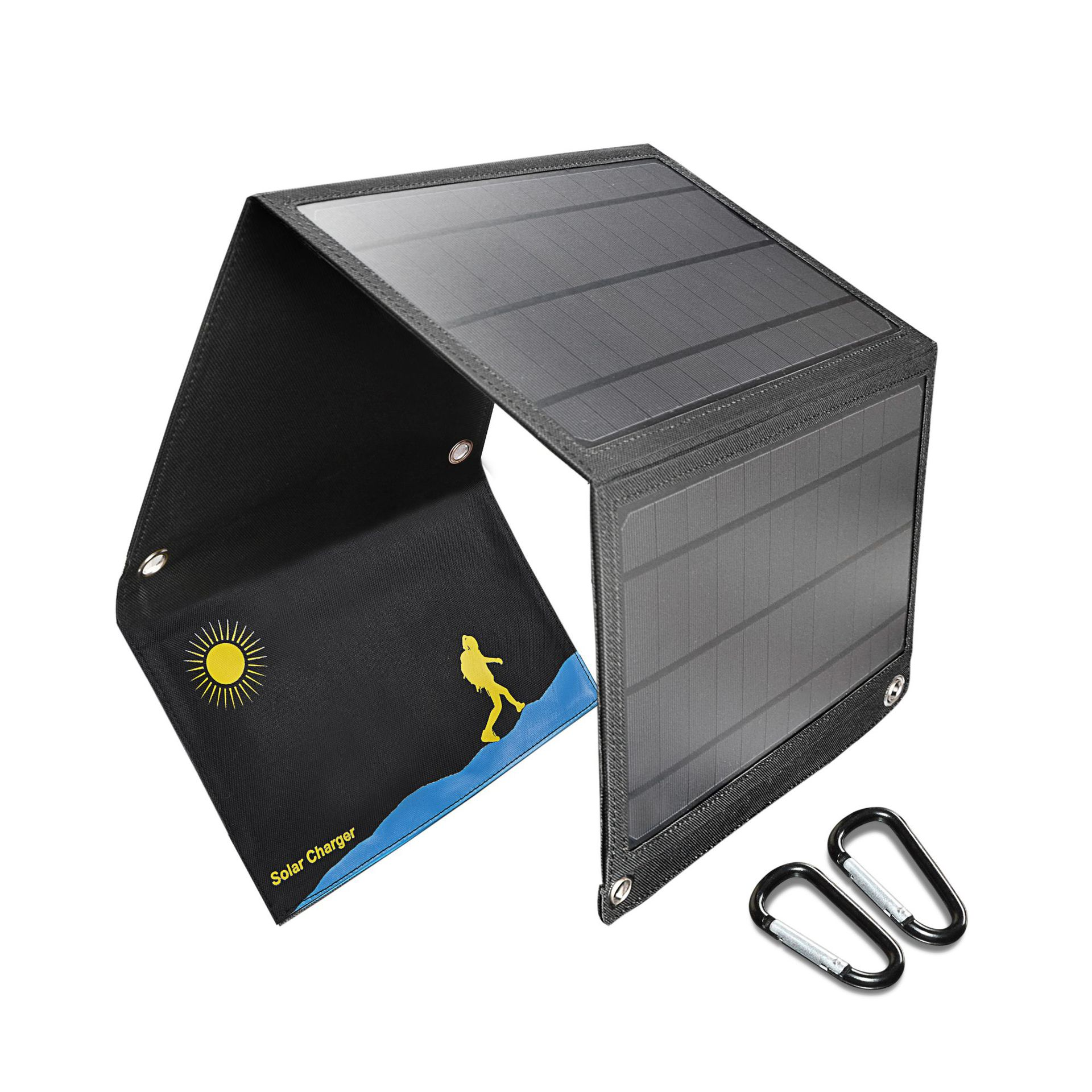 Portable 21W Folding Foldable Waterproof Solar Panel Charger Mobile Power Bank for Phone Battery Dual USB Port Outdoor Solar box