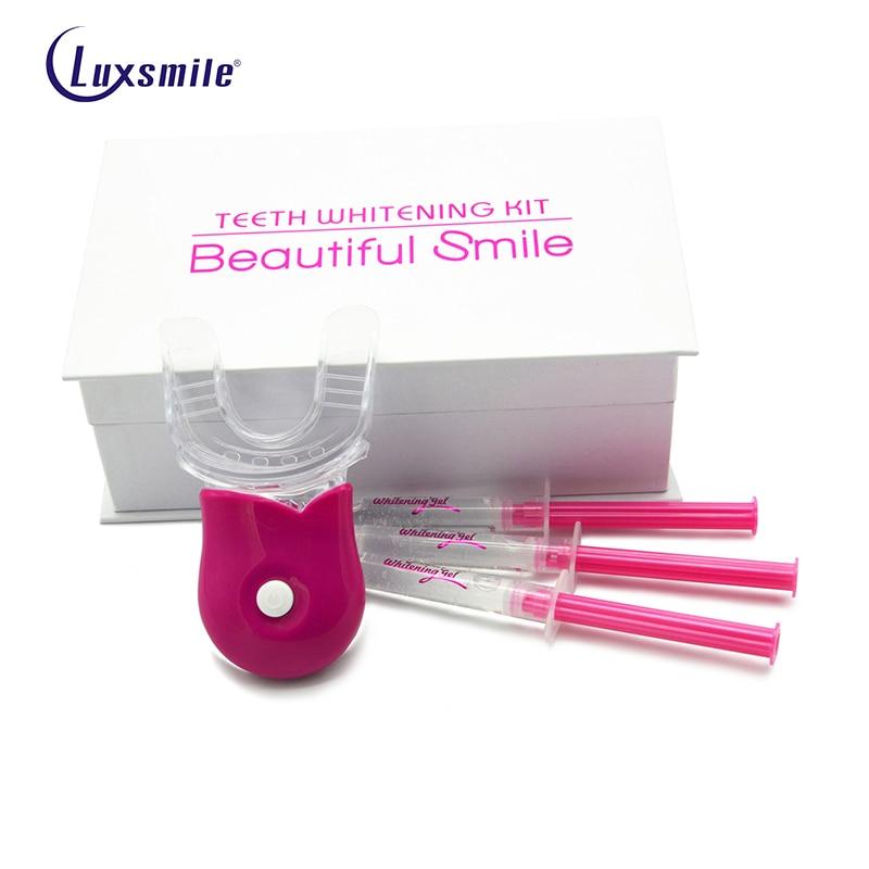 Luxsourire Kit de blanchiment Tanden Carbamide peroxyde placages dentaires blanchisseur blanchiment enlever les taches beau sourire livraison directe
