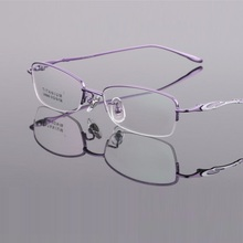 width-135 Titanium half frame myopia frames ultra light womens eyeglass brand eyeglasses for ladies reading glass