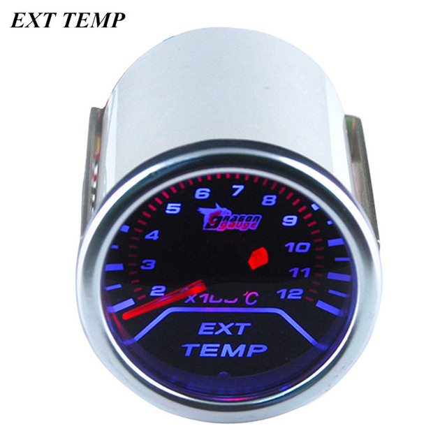 "EE support 2"" 52mm Universal Automobile Clock White Shell Smoke Tint Len Indicator EGT Exhaust Gas Temp Gauge Kit Meter XY01"