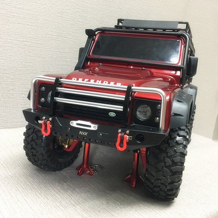 Rc Climbing Car Part CNC Metal Alloy Front Bumper Collision Beam FOR 1/10 TRAXXAS TRX-4 TRX4 T4 Axial 90046 Including Lights 1 10 rc climbing car part cnc metal alloy front bumper collision for traxxas trx 4 trx4 axial scx10 including lights