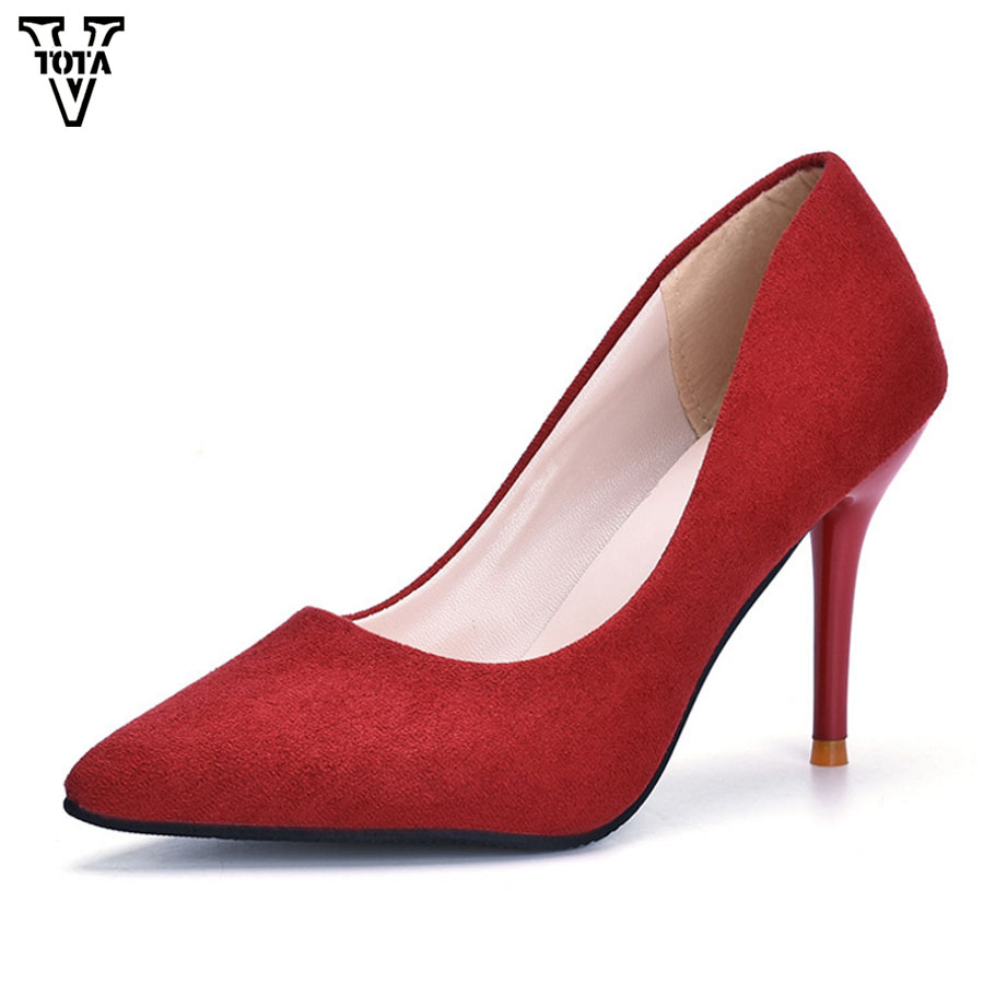 VTOTA High Heels Fashion Star Pumps Women Shoes Spring Autumn Pointed Toe Wedding Shoes Party Shoes Woman Zapatos Mujer LS ...