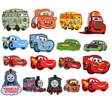 Various Cute Cartoon car mobilization Patch Embroidered Applique Sewing Clothes Stickers Garment Apparel Accessories