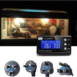 Светодиодный термостат с таймером, термостат для аквариума, 2-ступенчатый режим охлаждения