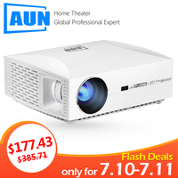 AUN Full HD Projector F30UP, 1920x1080P. Android 6.0 (2G+16G) WIFI, LED Projector for Home Theater. 3D Beamer, Support 4K video