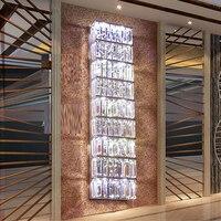 Длинный Хрустальный настенный светильник современный настенный светильник хромированный бра светодио дный светильник, длина 100 см гостини