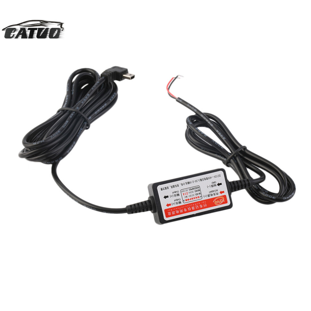 New <font><b>car</b></font> DVR power supply box dedicated vehicle traveling data recorder <font><b>charger</b></font> 12 v - 24 v to 5 v step-down <font><b>module</b></font> hot sale image