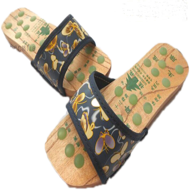 product wooden clogs shoes mens wood zuecos hombre de madera men for chinelo masculino womenand pantufa massage home slippers