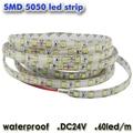 DC24V LED Strip 5050 SMD Flexible Light IP65 Waterproof 5m 300leds Lighting white/warm white / blue / red / green /RGB led strip